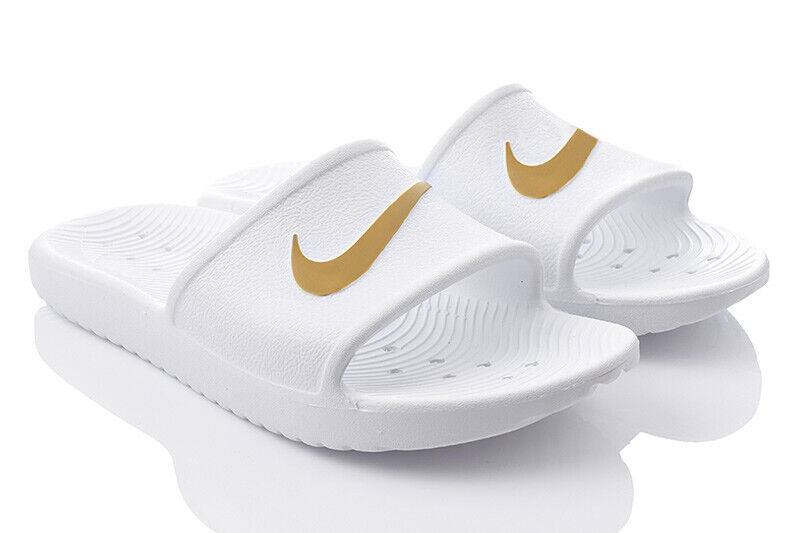 NIKE WMNS KAWA SHOWER Damenschuhe Badeschuhe Slide Badelatschen Sandalen Weiß