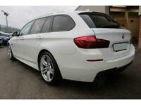 2013 WHITE BMW 520D TOURING 2.0 M SPORT DIESEL AUTO CAR FINANCE FR £185 PCM