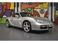 2008 Porsche Cayman 24V Coupe 2.7 Manual in Metallic Silver with Black Leather