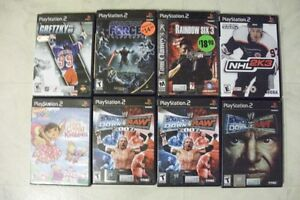 FOR SALE 9 PS2  2 NOT OPEN IS $15.00 EA, THE REST IS $10.00 E,