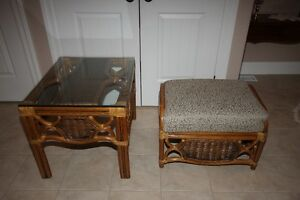 Rattan Table and Otterman to match