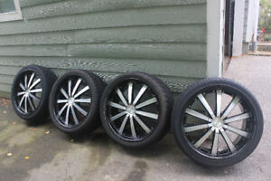 22 inch tires and rims - $1600