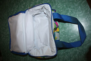 NEW Colourful Insulated lunch bag. zips with double straps. Kitchener / Waterloo Kitchener Area image 3