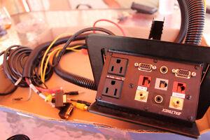 Altinex Tilt 'N Plug TNP502C Tabletop Interconnect Box