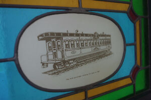 Framed Stained Glass Great Western & Canadian Railway Art Piece London Ontario image 4