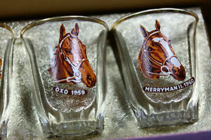 6 Vtg Shot Glasses Grand National Horse Race winners 1955 -1960 Kingston Kingston Area image 5