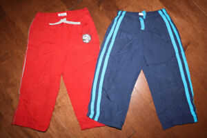 2 Pairs Fleece Lined Wind Pants - 2T