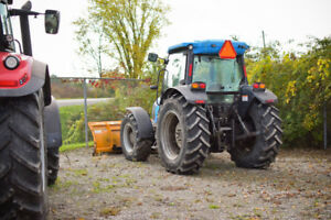 Landini DT90 PowerFarm Cab Tractor with Snow Blade