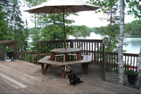 Cottage and Boathouse for rent on Coe Island Lake
