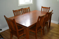Solid Wood  Dinning Table, Chairs and Buffet