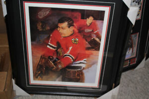 Glenn Hall beautifull framed and matted autographed print 16x20