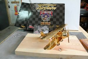 NASCAR LIMITED EDITION AIRPLANE 24KT GOLD PLATED