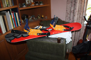 Size 6 youth Complete set board, boots and bindings.
