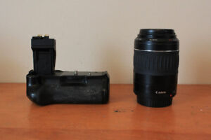 55-200mm Canon lens and Digipower power grip for sale
