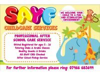 Sayf Childcare Services holiday scheme and after school club