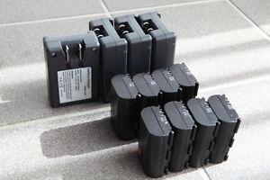 8xcanon batteries, 4xchargers (generic brand)