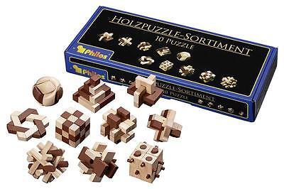 Philos 6922 Holzpuzzle-sortiment 10 Puzzle