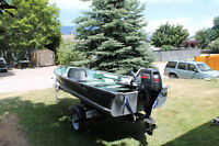 14 ft, lund boat and motor 15hp 4 stroke