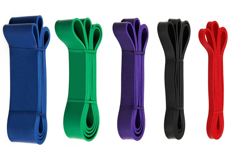 Pull Up Bands Resistance Loop Power Gym Fitness Exercise Yoga Strength Training Red+Black+Purple+Green+Blue