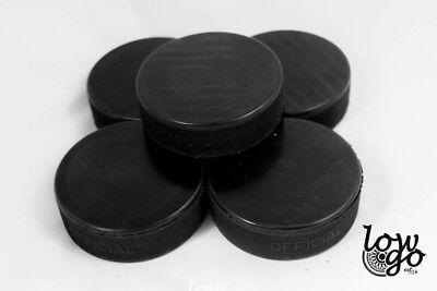 5 x Eishockeypuck schwarz offiziell Erwachsene Eishockey Neu 1. Wahl
