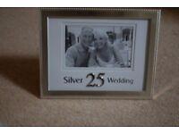 Silver 25th Wedding Anniversary Photo Frame (6 x 4) - Brand New in original box