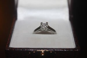 white gold diamond ring for sale - reduced to $225 OBO