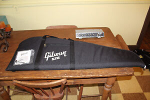 New Gibson Guitar Gig bag with neck tool & Fender 15G amp top