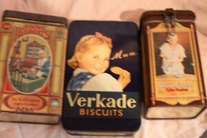 old biscuit tins 3 for $15.00