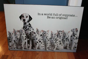 "Large Cute Dalmatian Wall Art 36"" x 24"""