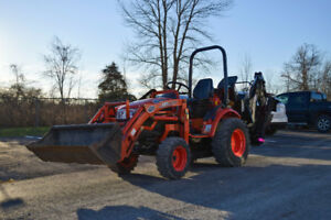 2010 Kioti CK20s with loader and new backhoe