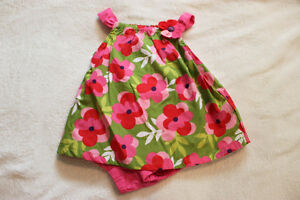 Girls Green with Red and Pink Flowers Dress – GYMBOREE