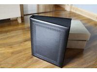 black wedding photo album boxed 7x5 inch prestige quality 20 photo sides