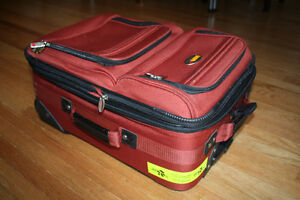 Via Rail Carry on luggage in burnt orange purchased at the Bay Kitchener / Waterloo Kitchener Area image 10