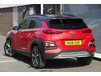 2018 Hyundai Kona 1.0 T-GDi (120ps) Premium SE (2 Tone Roof) 2WD Petrol orange