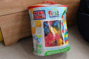 MEGA BLOKS - First Builders - Big Building Bag (80 pcs)
