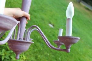 Chandelier Luminaire Lavande Antique