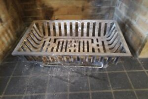 Vintage Cast Iron Fireplace Grate Coal Box Basket Wood Log Holde
