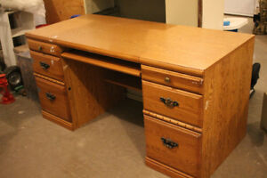 BIG SOLID WOODEN DESK