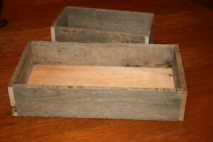 Primitive Wood Boxes