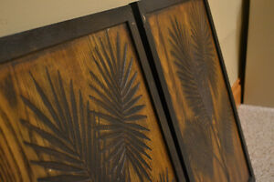 2 Carved Wood Decorative Wall Panels from Bouclair Peterborough Peterborough Area image 2