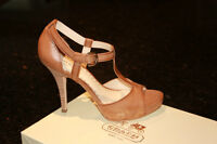 COACH SHOES NEW SIZE 10 OPEN TOE COLOR DATE (LIGHT BROWN)