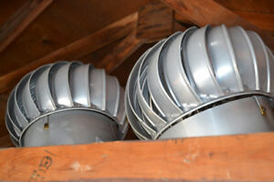 PAIR OF ALUMINUM VENTS ( WHIRLY BIRDS ) $25 each BOTH for $40