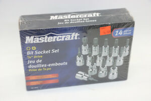**BRAND NEW** Mastercraft 14 Piece Bit Socket Set (#15887)