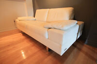 SOFA Design Cuir Blanc