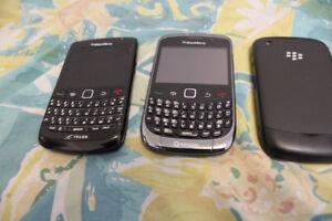 2 BlackBerry Curve ($25 Each), 1 BlackBerry Bold ($30)