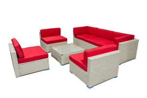 Outdoor Patio Furniture Wicker Set - 6476998240 -  Aluminum Fram