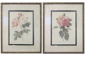 2 PIERRE JOSEPH REDOUTE FRAMED PAINTING PRINTS