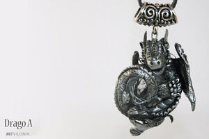 Fantasy charm pendant Dragon necklace handmade from polymer clay Kitchener / Waterloo Kitchener Area image 2