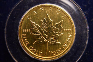 Canada $5 Gold Maple Leaf Coin 1/10th-Oz .9999 - GREAT CONDITION