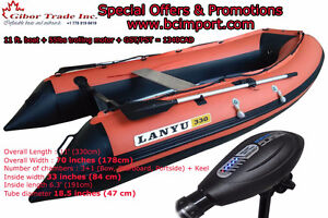 11 ft inflatable boat + 55 lbs trolling motor + TAX = 1340